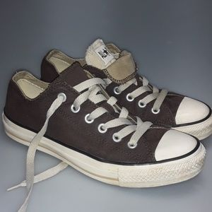 Vintage Brown Converse Unisex Double Tongue